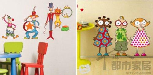 逗趣手绘墙面 留住童年美好时光