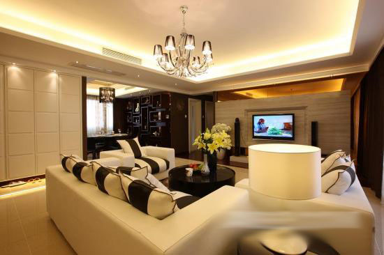 新东方风格--深圳鸿景翠峰私人豪宅-客厅