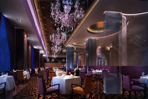 酒店自助餐厅设计效果图