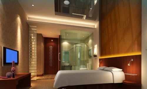 酒店桑拿包房设计效果图