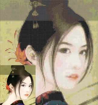 中国古代美女十字绣图 风华绝代 2