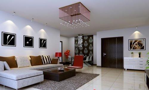 家庭成员: 三口之家 装修风格: 现代简约 工程造价: 50536元 在客厅及