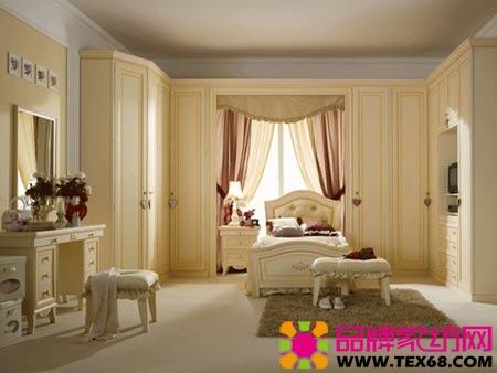 欧式风格家居装修舒适女孩卧室(3)