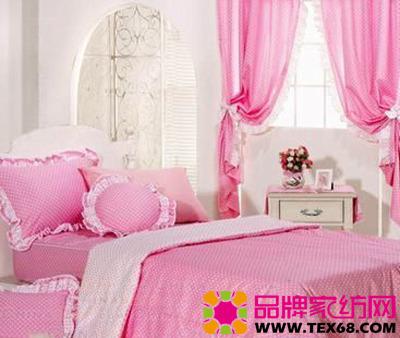 粉色布艺家纺打造美丽公主城堡