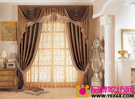 欧式布艺窗帘让家充满异域情怀(3)