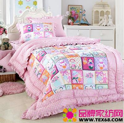 卡通儿童床品营造温馨童话世界-品牌家纺网