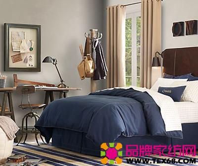 时尚雅致床品让男士卧室充满朝气(2)
