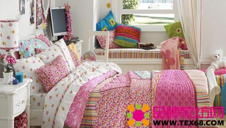 色彩儿童床品打造活泼个性卧室-品牌家纺网