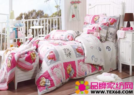 可爱儿童床品打造趣智儿童房