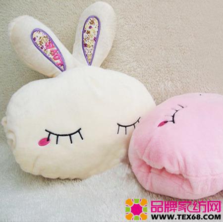 mm最爱的可爱毛绒兔子暖手抱枕
