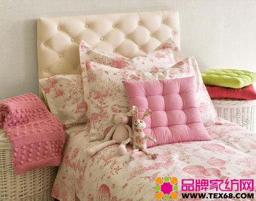 素雅儿童床品打造简约温馨卧室-品牌家纺网