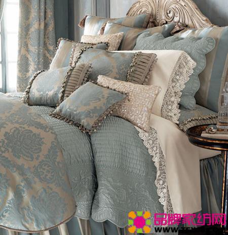 欧式风格床品彰显卧室优雅气质
