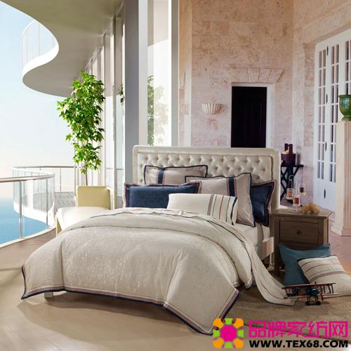 时尚简约床品打造美式风格卧室