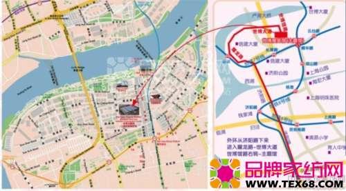 世博展览馆 地图