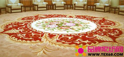 我国高级手工羊毛地毯按装饰花纹图案可分为四大类.