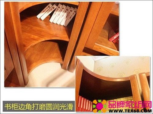 拐角书柜 家庭书柜效果图 带书柜的电脑桌