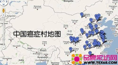 中国癌症村地图
