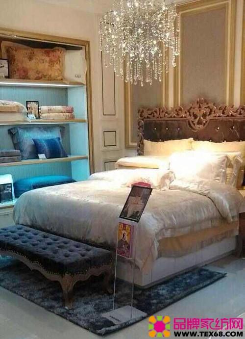 晚上欧式床图片