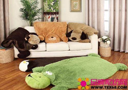 可爱的卡通卧室客厅脚垫地毯