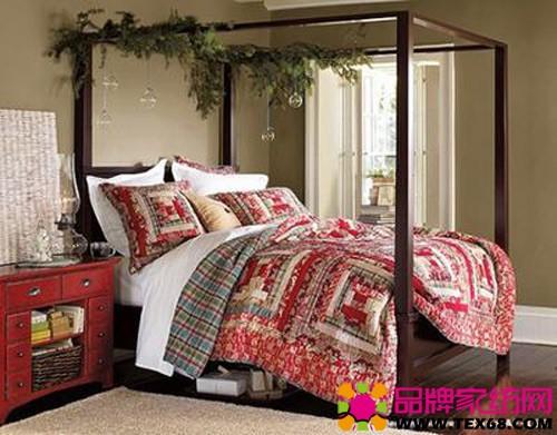 圣诞风格床品2