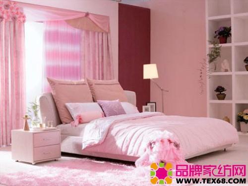 儿童卧室墙壁手绘粉色