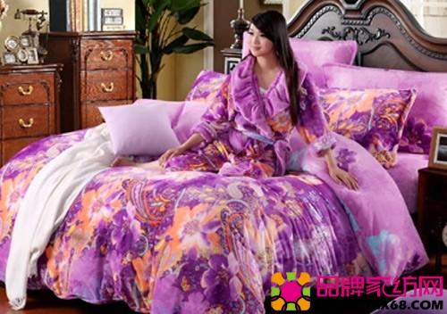 美罗家纺珊瑚绒:紫色风情