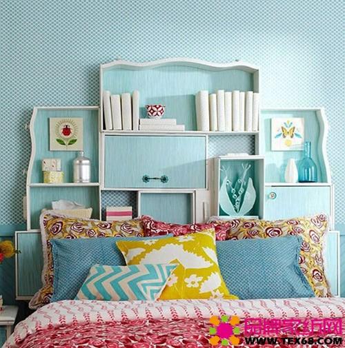 """个性床头背景墙设计,让卧室""""活起来""""-品牌家纺网"""