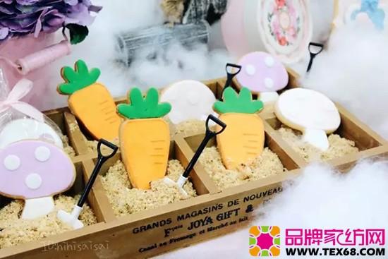 胡萝卜,蘑菇形状的小饼干
