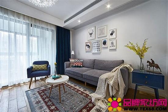 簡約時尚灰色沙發客廳風格