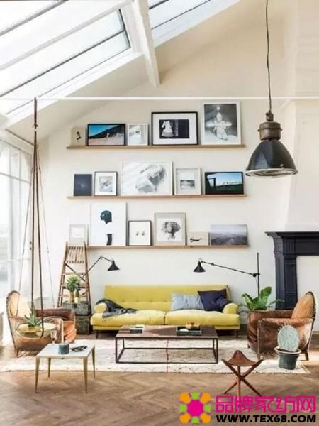 黃色沙發視覺系客廳風格