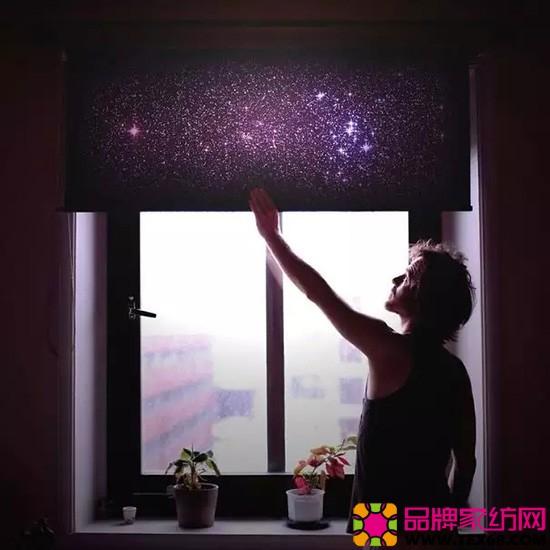 星空窗帘图片