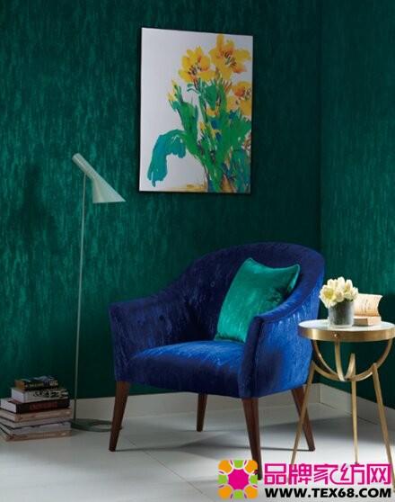 双色系列割绒面料制作的椅子