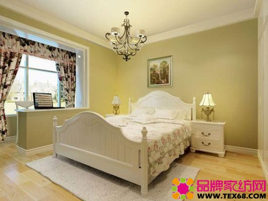 鹅黄色温馨田园风格卧室搭配