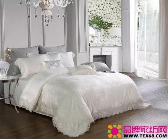 白色绗缝床品