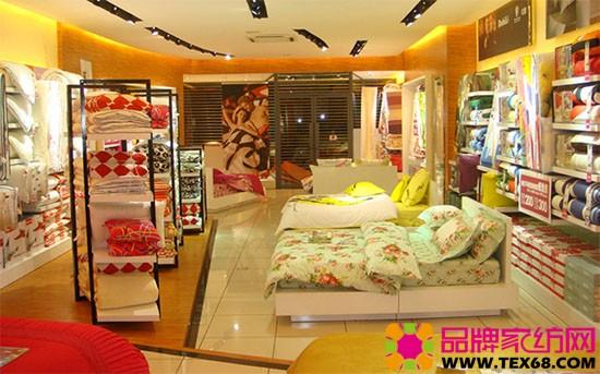 家纺品牌专卖店门口怎么陈列出主题?