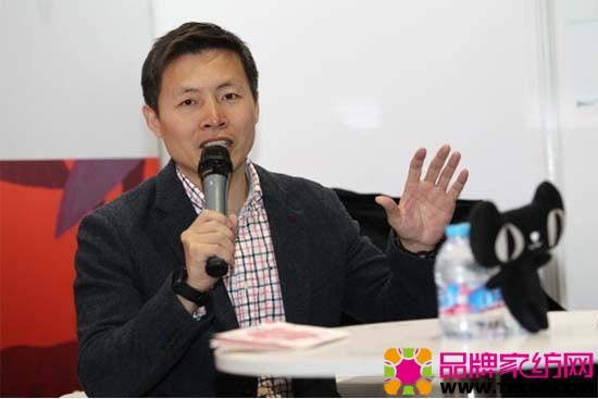 """罗莱生活代表王梁讲述家纺行业""""新体验""""是怎么实现的"""
