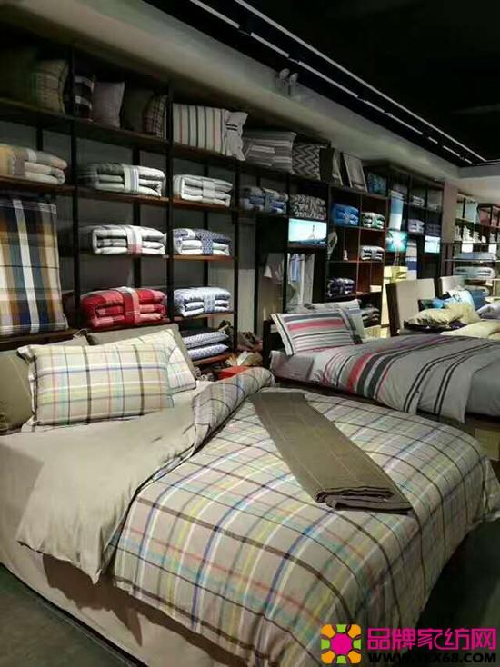 晚安家纺专卖陈列格子系列套件