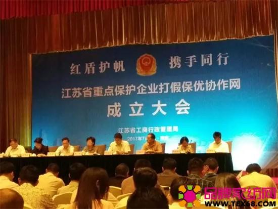 江苏省重点保护企业打假保优协作网成立大会