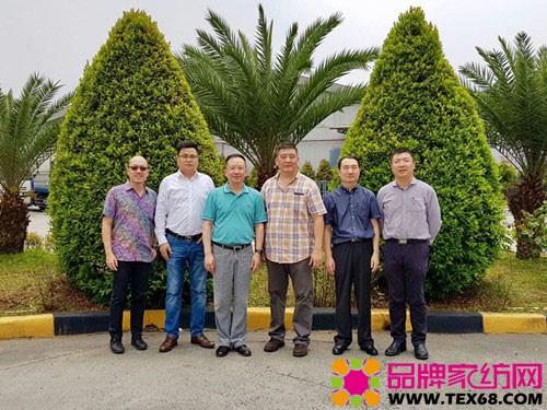 中国家纺代表团访问印尼毛巾企业