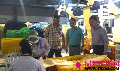 中国家纺代表团访问印尼毛巾企业车间参观