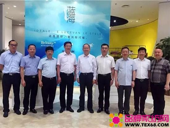 中纺联党委书记高勇一行实地走访南通家纺企业