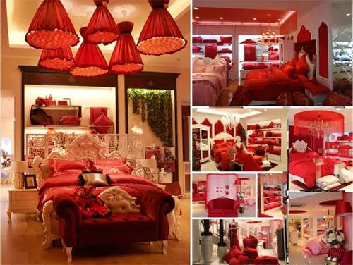 婚庆床品中国红