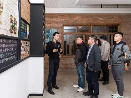 唯品会家纺总监一行参观了宁波博洋家纺集团有限公司创客157
