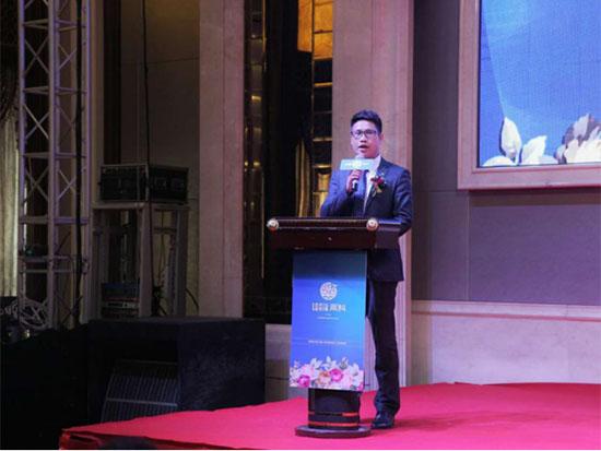 宝缦莱科项目执行总裁洪爱方先生发表了致辞