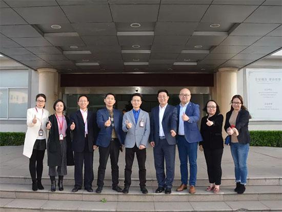 中国纺织工业联合会陈宝健一行莅临水星家纺参观访问