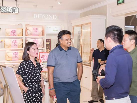 斯里兰卡的乳胶制品生产商LALAN集团董事长 Justin Kumar到宁波博洋家纺集团参加访问