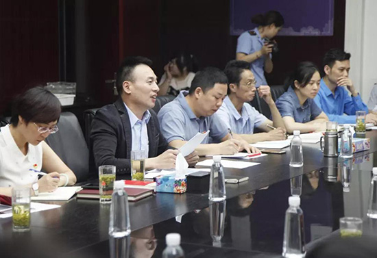 紫罗兰家纺党支部书记、董事长陈永兵同志上微党课