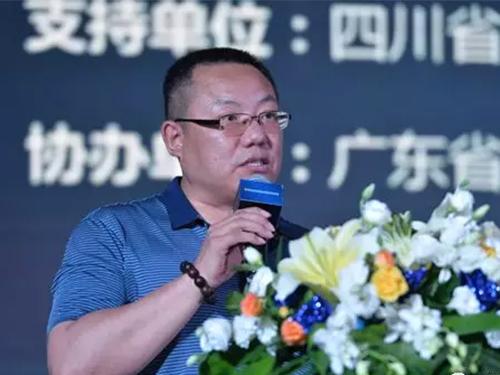 四川省建材家具装饰商会会长杨文松先生致辞,表示建材行业在创博会平台推动下将有大的发展