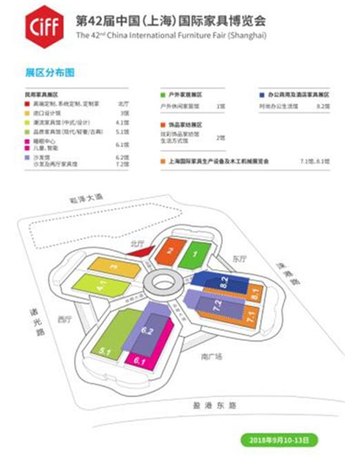 博览会展区分布图