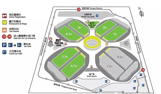 上海展布局图